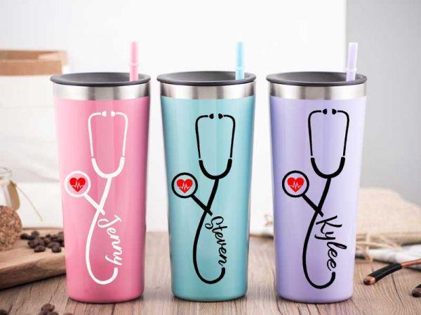 Personalized 22 OZ Tumbler Nurse Doctor Gift