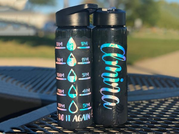 Personalized 24oz tracker water bottle