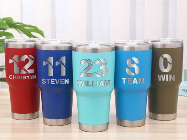 Personalized Baseball lovers 30oz Colster Tumbler
