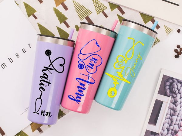 Personalized Healthcare Worker Gift 22oz Tumbler with Straw
