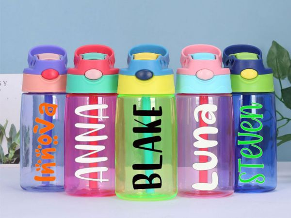 Personalized PVC Kids 14oz Water Bottle