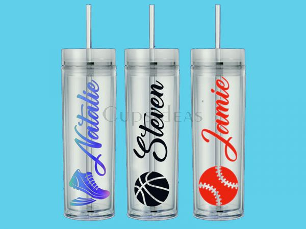 Sport Gift - Personalized 16oz Acrylic Tumbler