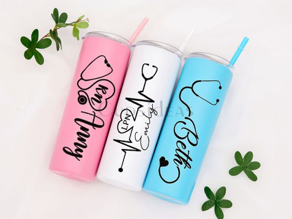 Customized Healthcare Worker Gift 20oz Skinny Tumbler
