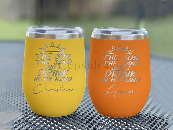 The Sun, The Sand, & A Drink In My Hand 12oz Stemless Tumbler