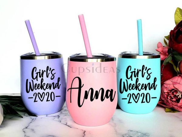 12oz Tumler Personalized Girl's Weekend 2020 Gift