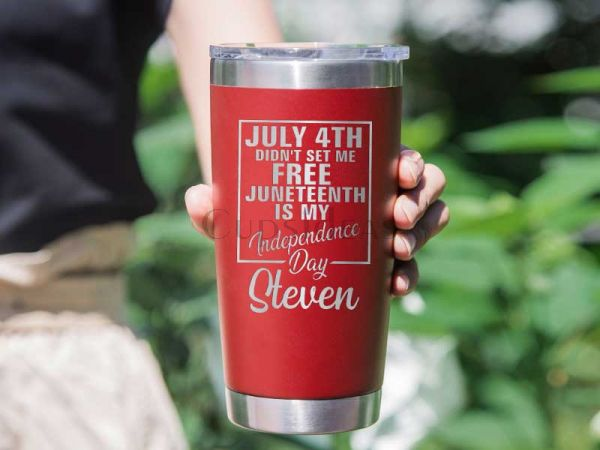 Independence Day July 4th Didn't Set Me Free Personalized 20oz Tumbler
