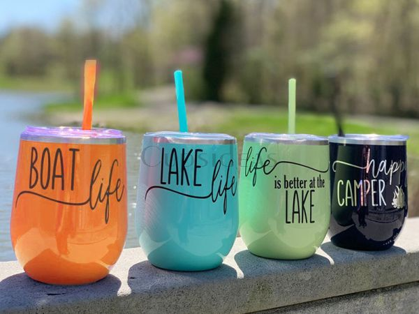 Life is better, boat, camping, beach, lake, customized 12oz Tumbler