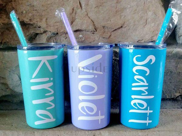 Personalized 12oz Skinny Tumber Kids Water Bottle