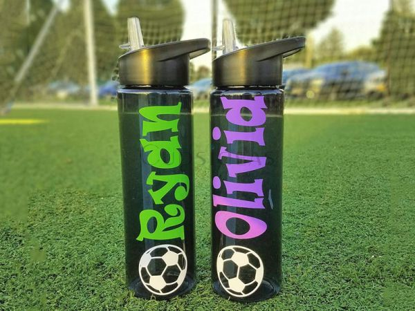 Soccer&Soccer Team Gift Personalized Water Bottle with Name